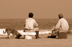 φίλοι παραλιών Στοκ φωτογραφία με δικαίωμα ελεύθερης χρήσης