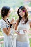 Φίλοι που πίνουν τον καφέ Στοκ φωτογραφίες με δικαίωμα ελεύθερης χρήσης