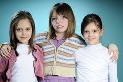 φίλοι τρία λευκό Στοκ Φωτογραφία