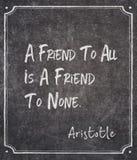 Φίλος σε κανένας Αριστοτέλης στοκ εικόνες με δικαίωμα ελεύθερης χρήσης