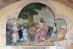 Φίλος του Ιησού των μικρών παιδιών στοκ εικόνες