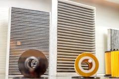 Φίλτρο αέρα εγγράφου, κινηματογράφηση σε πρώτο πλάνο στοκ φωτογραφία με δικαίωμα ελεύθερης χρήσης