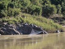 Φίσερ καθαρό στον ποταμό Mekong στοκ εικόνα με δικαίωμα ελεύθερης χρήσης