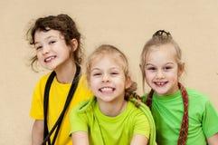 Φίλαθλα μικρά κορίτσια Στοκ Εικόνες