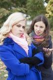Φίλες που προσβάλλονται Στοκ εικόνες με δικαίωμα ελεύθερης χρήσης