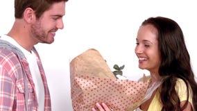 φίλη λουλουδιών το άτομό &ta απόθεμα βίντεο
