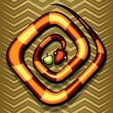Φίδι και μήλο Στοκ Εικόνες
