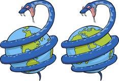 Φίδι στον κόσμο διανυσματική απεικόνιση