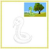 Φίδι χρωματισμού Στοκ Εικόνες
