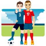 Φίλοι και ανταγωνιστές ποδοσφαίρου διανυσματική απεικόνιση