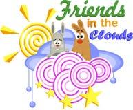 Φίλοι στα σύννεφα Στοκ εικόνες με δικαίωμα ελεύθερης χρήσης