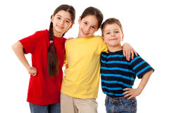 Φίλοι - τρία παιδιά από κοινού Στοκ φωτογραφία με δικαίωμα ελεύθερης χρήσης