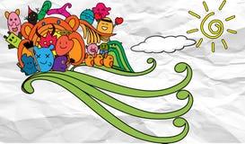 Φίλοι Doodle Στοκ Εικόνες