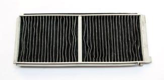 Φίλτρο αέρα για το πολύ βρώμικο κλιματιστικό μηχάνημα αυτοκινήτων Στοκ Εικόνα