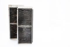 Φίλτρο αέρα για το πολύ βρώμικο κλιματιστικό μηχάνημα αυτοκινήτων Στοκ εικόνα με δικαίωμα ελεύθερης χρήσης
