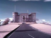 Φίλτρο της Iνβερνές Σκωτία Castle IR στοκ φωτογραφίες