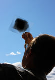 φαίνεται ήλιος ατόμων Στοκ εικόνα με δικαίωμα ελεύθερης χρήσης
