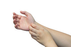 Φαγουρίστε το δέρμα χεριών Στοκ φωτογραφία με δικαίωμα ελεύθερης χρήσης