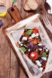 Φακές με τα ψημένα λαχανικά Στοκ Φωτογραφία