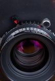 Φακός για τη φωτογραφική μηχανή μεγάλης μορφής Στοκ Εικόνες