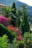 Φακός κήπων με Bougainville Στοκ Φωτογραφία