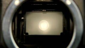 Φακός καμερών κινηματογραφήσεων σε πρώτο πλάνο Λεπίδα παραθυρόφυλλων καμερών διαφραγμάτων σε σε αργή κίνηση απόθεμα βίντεο