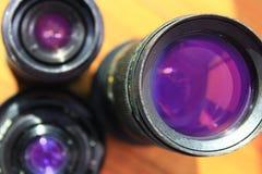 φακός φωτογραφικός Σύγχρονοι φακοί καμερών με τις αντανακλάσεις Σύγχρονοι φακοί καμερών με τις αντανακλάσεις στοκ εικόνα