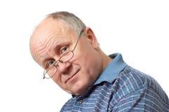 φαλακρός πρεσβύτερος ατόμων γυαλιών Στοκ εικόνες με δικαίωμα ελεύθερης χρήσης