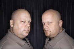 φαλακρό δίδυμο ατόμων στοκ εικόνες