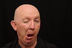 φαλακρό κλείσιμο του ματιού ατόμων στοκ εικόνα με δικαίωμα ελεύθερης χρήσης