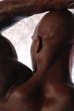 φαλακρό μαύρο αρσενικό Στοκ εικόνες με δικαίωμα ελεύθερης χρήσης