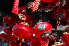 Φανάρια ή λαμπτήρες παραδοσιακού κινέζικου Στοκ φωτογραφία με δικαίωμα ελεύθερης χρήσης