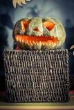 Φανάρια κολοκύθας αποκριών - τέλεια διακόσμηση για αποκριές Στοκ φωτογραφία με δικαίωμα ελεύθερης χρήσης