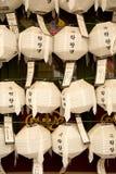 Φανάρια στο ναό Jogyesa στη Σεούλ στη Νότια Κορέα Στοκ Φωτογραφίες