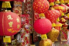 Φανάρια της ΚΟΥΆΛΑ ΛΟΥΜΠΟΎΡ, ΜΑΛΑΙΣΙΑ †«στις 23 Ιανουαρίου 2011 για το κινεζικό νέο έτος Στοκ Εικόνες