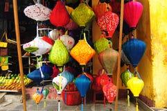 Φανάρια Handcrafted στην αρχαία πόλη Hoi, Βιετνάμ Στοκ φωτογραφίες με δικαίωμα ελεύθερης χρήσης