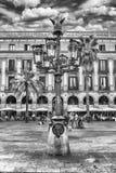 Φανάρι από το Antoni Gaudi σε Placa Reial, Βαρκελώνη, Καταλωνία, SP Στοκ Εικόνα