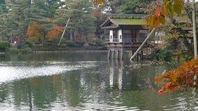 Φανάρι Kotoji στον κήπο Kenrokuen φιλμ μικρού μήκους