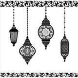 Φανάρι Ramadan σε γραπτό διανυσματική απεικόνιση