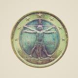Φανείτε νόμισμα που απομονώνεται αναδρομικός Στοκ φωτογραφία με δικαίωμα ελεύθερης χρήσης