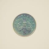 Φανείτε νόμισμα που απομονώνεται αναδρομικός Στοκ φωτογραφίες με δικαίωμα ελεύθερης χρήσης