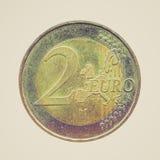 Φανείτε νόμισμα που απομονώνεται αναδρομικός Στοκ Εικόνες