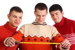 φανείτε ταινία τρία ατόμων μέτ Στοκ Φωτογραφία