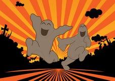 φαντάσματα ευτυχή απεικόνιση αποθεμάτων