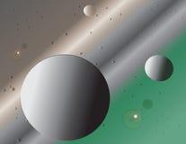 Φαντασία για τη γη και το μεσημέρι στο διάστημα Στοκ Εικόνα