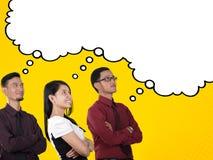 Φαντασία επιχειρηματιών στο κωμικό ύφος Στοκ φωτογραφία με δικαίωμα ελεύθερης χρήσης