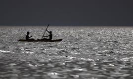 Φαντασία σε μια βάρκα εν πλω στοκ εικόνες
