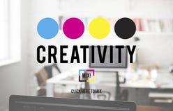 Φαντασία χρώματος δημιουργικότητας που δημιουργεί την έννοια διαδικασίας Στοκ Φωτογραφία