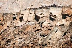 Φανταστικά διαμορφωμένοι βράχοι στην έρημο Negev Στοκ εικόνες με δικαίωμα ελεύθερης χρήσης