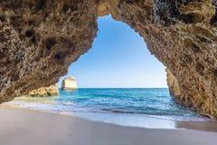 Φανταστικά όμορφος κόλπος στο Αλγκάρβε στοκ φωτογραφίες